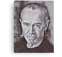 George Carlin Drawing Canvas Print