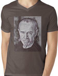 George Carlin Drawing Mens V-Neck T-Shirt