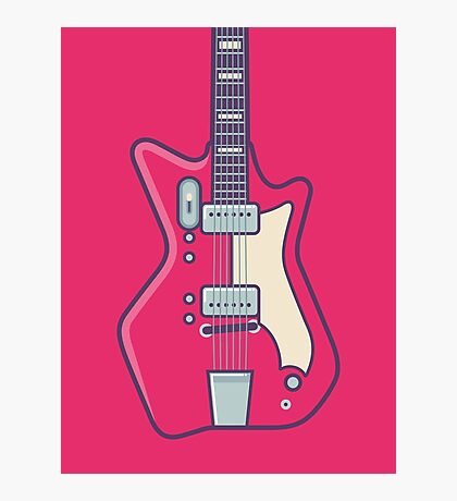 Jack White JB Hutto Montgomery Ward Airline Guitar (Alt Red) Photographic Print
