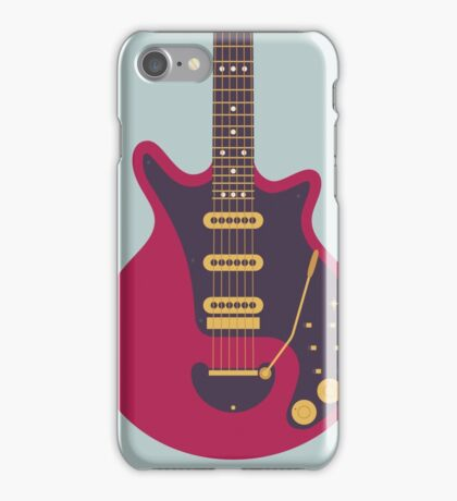 Brian May Red Special Guitar (Grey) iPhone Case/Skin