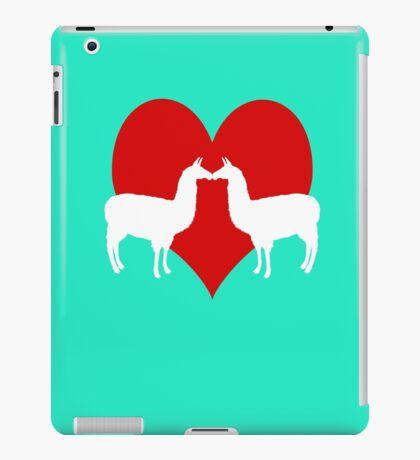 Llama Love Cute Couples Animal  iPad Case/Skin