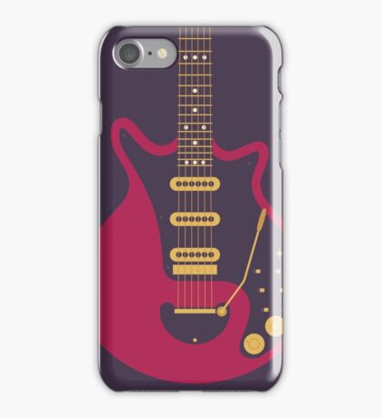 Brian May Red Special Guitar (Black) iPhone Case/Skin
