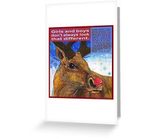 Rudolpha (Reindeer)  Greeting Card