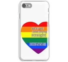 Let's get one thing straight, I'm not - LGBT heart flag iPhone Case/Skin