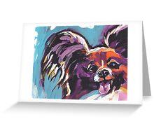Papillon Dog Bright colorful pop dog art Greeting Card
