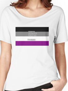 Let's get one thing straight, I'm not - Asexual flag Women's Relaxed Fit T-Shirt