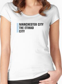 Man City Women's Fitted Scoop T-Shirt