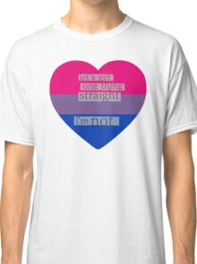 Let's get one thing straight, I'm not - bisexual heart flag Classic T-Shirt