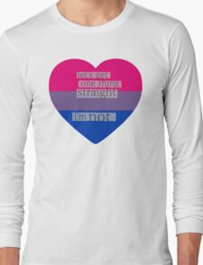 Let's get one thing straight, I'm not - bisexual heart flag Long Sleeve T-Shirt