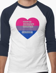 Let's get one thing straight, I'm not - bisexual heart flag Men's Baseball ¾ T-Shirt