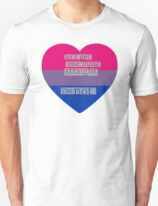 Let's get one thing straight, I'm not - bisexual heart flag T-Shirt