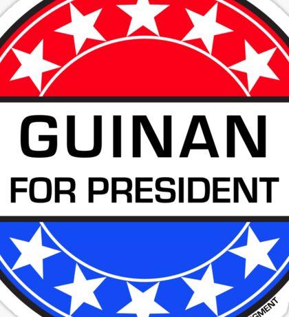 GUINAN FOR PRESIDENT Sticker