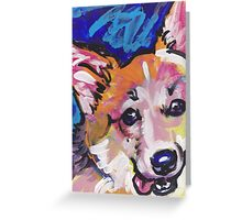 Pembroke Welsh Corgi Dog Bright colorful pop dog art Greeting Card