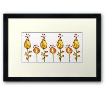 orange decorative flowers Framed Print
