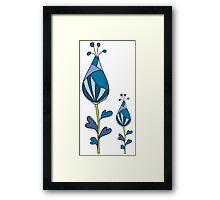blue decorative flowers Framed Print