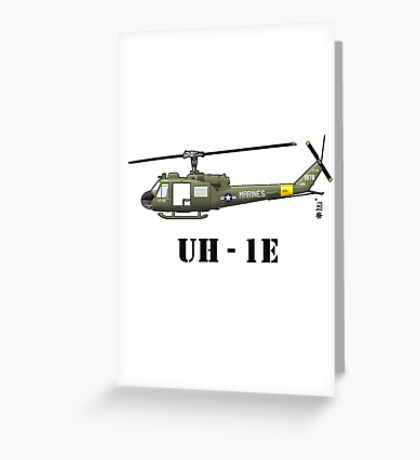 Helicopter UH-1E Greeting Card