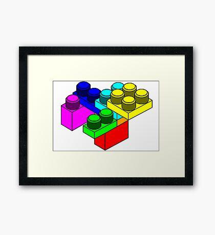 Colourful Lego Blocks Framed Print
