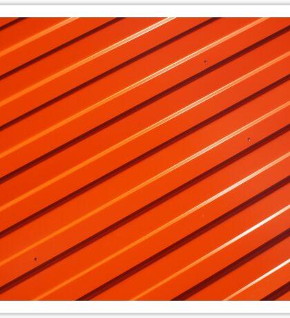 Orange metal corrugated sheet metal Sticker