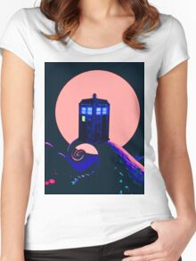 tardis with her beauty Women's Fitted Scoop T-Shirt