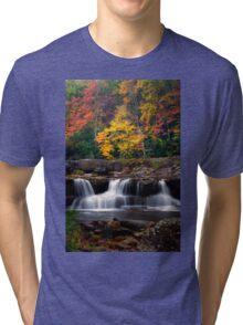 Fall Foliage and Waterfalls Tri-blend T-Shirt