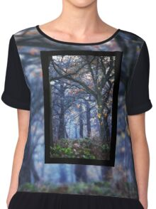 The Enchanted Forest Portrait with Single Border Chiffon Top