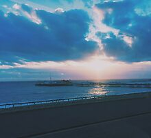 Brighton Pier Winter Sunset by lolohannah