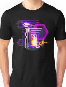 Abstract Neon Lights and Lens Flares Art T-Shirt