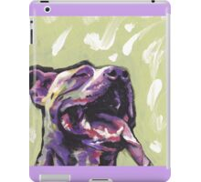 Pitbull Dog Bright colorful pop dog art iPad Case/Skin