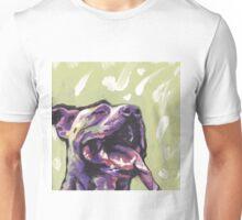 Pitbull Dog Bright colorful pop dog art Unisex T-Shirt