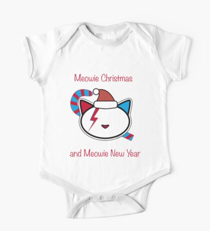 Meowie Christmas and Meowie New Year 2 One Piece - Short Sleeve
