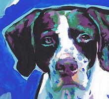 English Pointer Dog Bright colorful pop dog art by bentnotbroken11