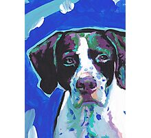 English Pointer Dog Bright colorful pop dog art Photographic Print