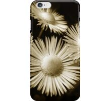 Monochrome Flowers iPhone Case/Skin