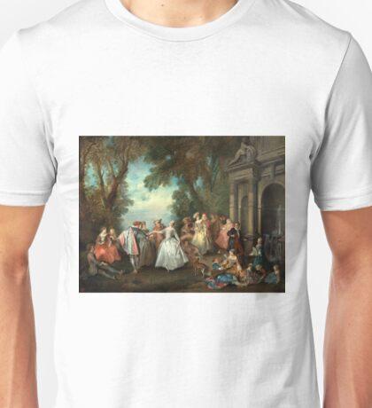 Dance before a Fountain - Nicolas Lancret - 1724 Unisex T-Shirt