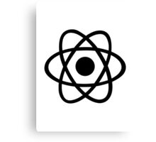 Atom icon Canvas Print
