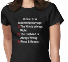 Rules For A Successful Marriage Womens Fitted T-Shirt
