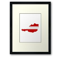 Austria map flag Framed Print