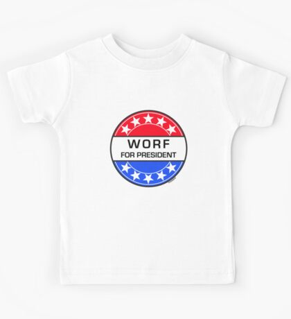 WORF FOR PRESIDENT Kids Tee