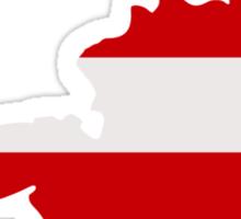 Austria map flag Sticker