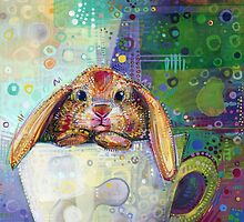 Bunny in a teacup by Gwenn Seemel