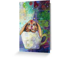 Bunny in a teacup Greeting Card