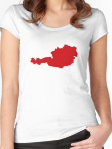 Austria Map Women's Fitted Scoop T-Shirt