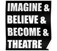 Imagine & (white) Poster