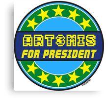 ART3MIS FOR PRESIDENT Canvas Print