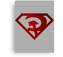 Superman hammer and sickle Canvas Print