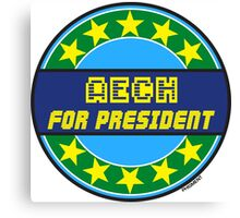 AECH FOR PRESIDENT Canvas Print