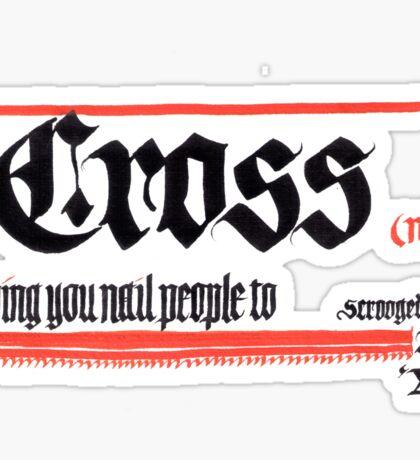 Cross, noun Sticker