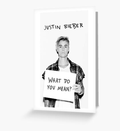 Justin Bieber -  Greeting Card