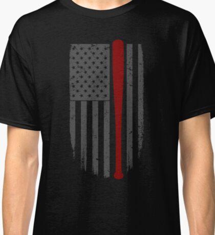 Baseball American Flag Cool Gift Classic T-Shirt