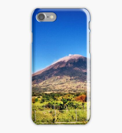 El Volcan Chaparrastique iPhone Case/Skin